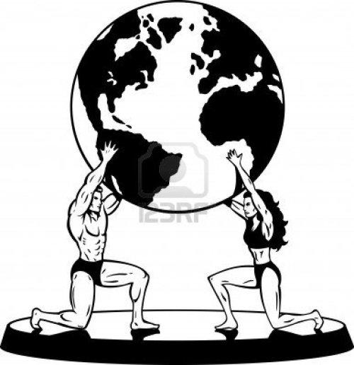 6417313-mannelijk-en-vrouwelijk-atlas-ondersteuning-van-de-wereld-in-eenvoudige-zwart-wit